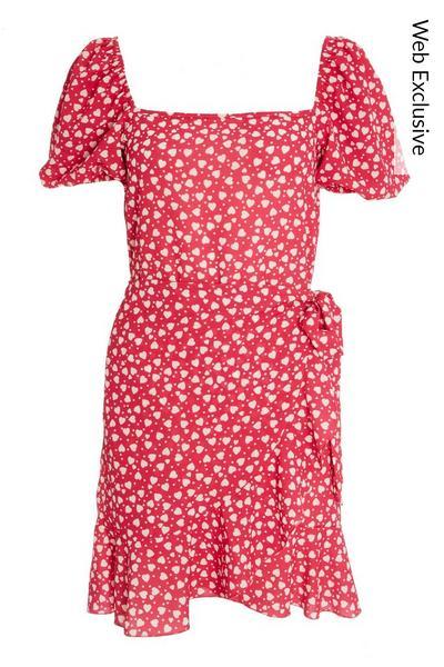 Pink Heart Skater Dress